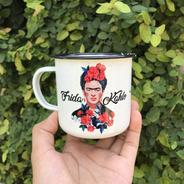 Taza Peltre 11oz  Frida Kahlo Viva La Vida  Yo Te Cielo