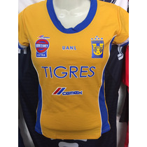 Playera Jersey Blusa Tigres Monterrey Mujer 2017 Sexy Dhl