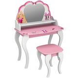 Penteadeira Com Banqueta Barbie Star Pura Magia Branco/rosa