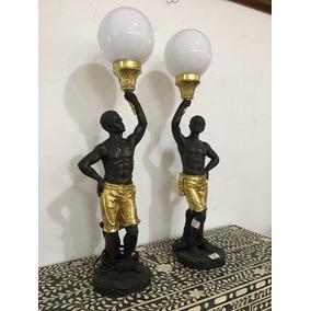 Par De Black Moor De Petit Bronze + 4 Bolas 15x35