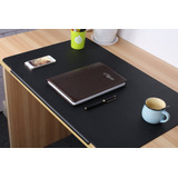 Lohome Desk Pads Artificial Leather Laptop Mat With -negro