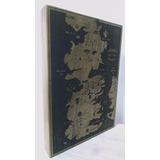 Mapa De Westeros (game Of Thrones) Grabado En Madera