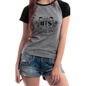 Camiseta Babylook K-pop Bts Personalizada Assinatura +brinde