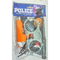Pistolas Revolvers Kit Policial Com 11 Peças