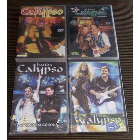 Lote Kit 04 Dvds Banda Calypso Ao Vivo 1,2,3 E 4 Original