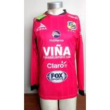 Camiseta Arquero Everton 2016-2017 Rosada Manga Larga Pirma
