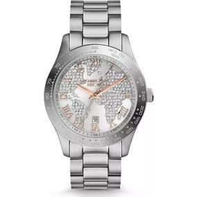 Relógio Mk Prata Com Strass - Joias e Relógios no Mercado Livre Brasil b15b43e240