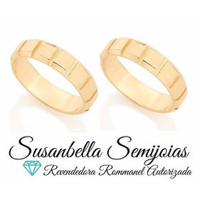 Par Aliança Escovada Rommanel Compromisso Casamento 512073