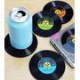 Posa Vasos Discos De Vinilo Cd Retro Original Caja X 2