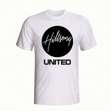 Camiseta Banda Rock Hillsong United Gospel Camisa Branca
