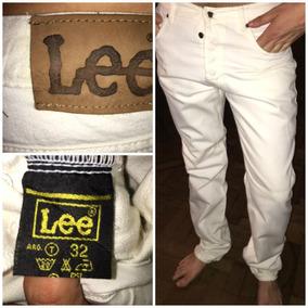 Pantalon Lee Blanco Hombre Talle 42