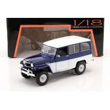 1/18 Jeep Willys Station Estanciera 1955 -azul/blanco(nuevo)