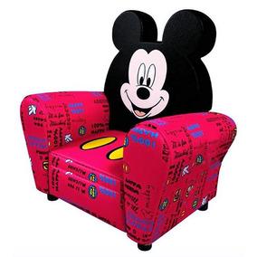 Sillón Infantil Mickey Mouse Rojo Y Negro Puff Envío Gratis
