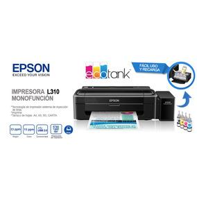 Impresora Para Sublimado Epson L310 Incluye Tintas 125mlc/u