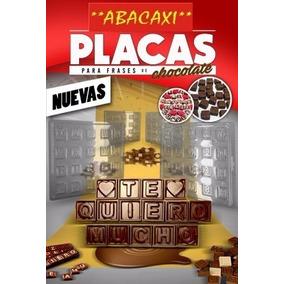 Placa Molde Chocolate Bombon Letras Chocomensaje Chocofrase