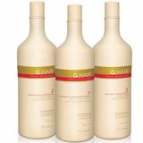 Inoar G Hair Escova Alemã Progressiva (3 X 1 Litro) Kit