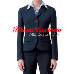 Blazer Y Pantalón Uniforme Ejecutivo En Gabardina