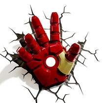 Iron Man Hand Marvel Avengers Lampara 3d Luz Led De Pared