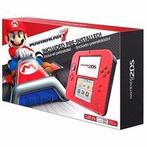 Nintendo 2ds Vermelho Incluso Mario Kart 7