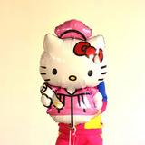 Globo Gigante Metalizado Graduacion Toga Birrete Hello Kitty