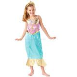 Fantasia Princesa Ariel Sereia Original Disney G 8 Anos