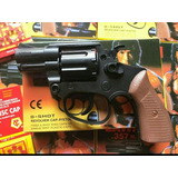 Revolver 38 Arma Brinquedo Airsoft Rambo Espoletas E Bbs