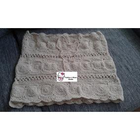 Pollera Mini Minifalda Tejida Al Crochet Hilo De Algodon