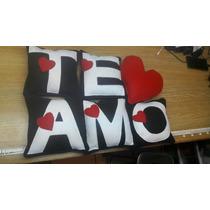 Cojin Te Amo Y Corazón Jgo 6 Pzas Envio Gratis