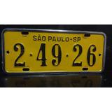 Placa Amarela De Carro Antiga - Promoção !