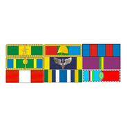 Placa Com 9 Barretas De Medalhas - Fixação Por Imã