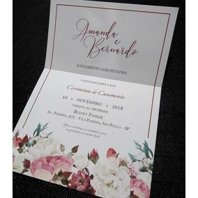 Convite De Casamento Moderno Promoção De Lançamento 50 Unid.