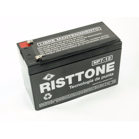 Bateria Risttone De Gel 12v 7 Amper/h Recargable P/alarmas.