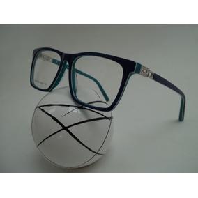 Armação Feminina Óculos P/ Grau Acetato Cor Azul E Verde