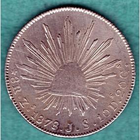 Moneda Antigua Plata Ocho Reale Zs 1863 M.o. P26