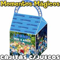 10 Cajitas Feliz Los Pitufos Valijitas Golosinera + 7 Juegos