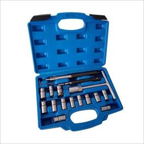 17pcs Diesel Inyector Asiento Cortador Limpiador Kit Set...