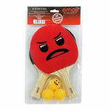 Padrisimo Set De Tenis (ping Pong) De Emoji.