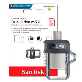Pen Drive 64gb Sandisk Celular E Pc Ultra Dual Drive Usb 3.0