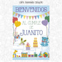 Cartel Bienvenida Cumpleaños Fiestas Diseño Personalizado