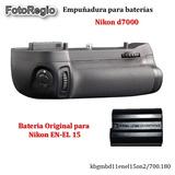 Kit Empuñadura Y Bateria Original En-el15 Para Nikon D7000