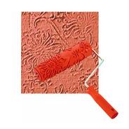 Rolo Para Textura Com Suporte 18cm Efeito Floral