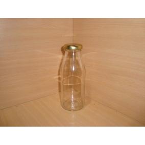 Botella Vidrio 250cc Con Tapa Perforada Jugo-candy-envase