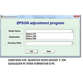 Reset Epson C67 C68 D68 Atualizado Ilimitado Manual Incluso