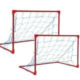 Mini Trave Golzinho Futebol Gol Cano Metal O Par Com Redes