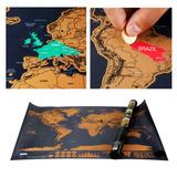 Mapa Mundo Scratch Map Viajeros Rascar Mochileros Delux