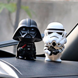 Cabezónes Muñecos Darth Vader Y Star S Adorno Carro,oficina.