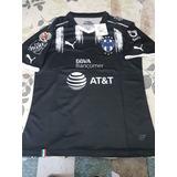 Jersey Playera Rayados Monterrey Tercer Kit 2017 Negro