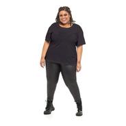Camiseta Plus Size Wonder Size Básica Malha Preta