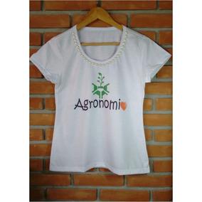 Blusa Camiseta Bordada Curso Agronomia Profissão Agronomo