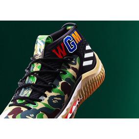 finest selection 7aeb4 d0e41 adidas Dame 4 Bape Green Camo